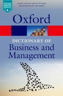 Image for A dictionary of business and management
