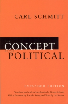Image for The Concept of the Political - Expanded Edition