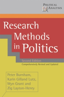 Image for Research methods in politics