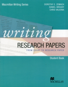 Image for Writing research papers  : from essay to research paper