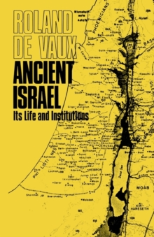 Image for Ancient Israel : Its Life and Institutions