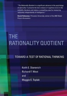 Image for The rationality quotient  : toward a test of rational thinking