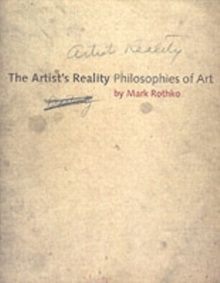 Image for The artist's reality  : philosophies of art