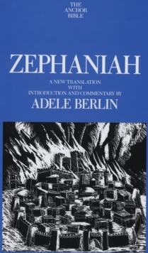 Image for Zephaniah  : a new translation with introduction and commentary