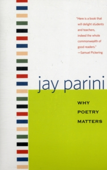 Image for Why poetry matters