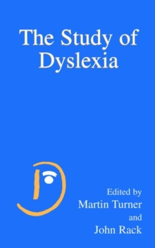 Image for The study of dyslexia