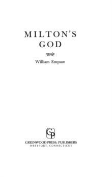 Image for Milton's God