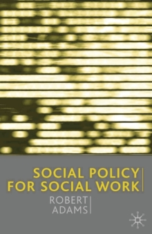 Image for Social policy for social work
