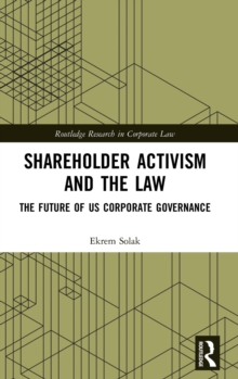 Image for Shareholder activism and the law  : the future of US corporate governance