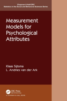 Image for Measurement models for psychological attributes