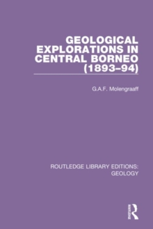 Image for Geological explorations in Central Borneo (1893-94)