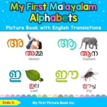 Image for My First Malayalam Alphabets Picture Book with English Translations : Bilingual Early Learning & Easy Teaching Malayalam Books for Kids