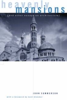Image for Heavenly Mansions : and Other Essays on Architecture