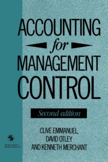 Accounting for Management Control (The Routledge History of Economic Thought Series)