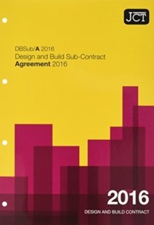 Image for Design and build sub-contract agreement 2016  : DBSub/A 2016