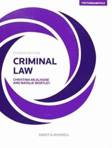 Image for Criminal law  : the fundamentals