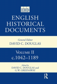 Image for English Historical Documents: 1042-1189
