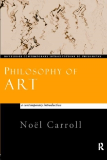 Image for Philosophy of art  : a contemporary introduction