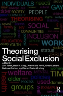 Image for Theorising social exclusion