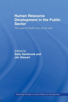 Image for Human resource development in the public sector  : the case of health and social care