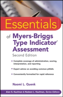Image for Essentials of Myers-Briggs type indicator assessment