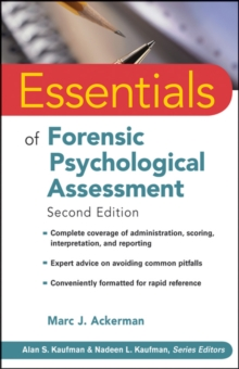 Image for Essentials of forensic psychological assessment