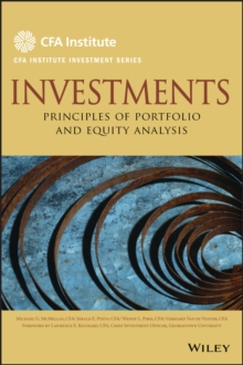 Image for Investments  : principles of portfolio and equity analysis