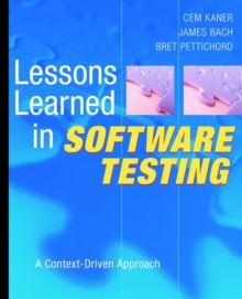 Image for Lessons learned in software testing