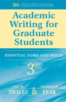 Image for Academic writing for graduate students  : essential tasks and skills