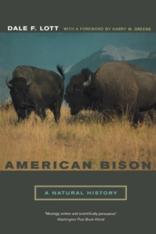 Image for American bison  : a natural history