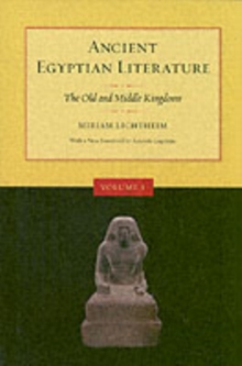 Image for Ancient Egyptian Literature, Volume I : The Old and Middle Kingdoms