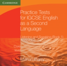Image for Practice Tests for IGCSE English as a Second Language: Listening and Speaking, Core Level Book 1 Audio CDs (2)