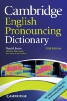 Image for Cambridge English pronouncing dictionary