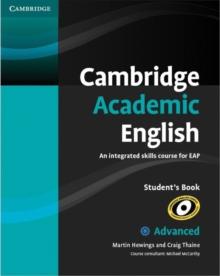Image for Cambridge academic English: C1 advanced student's book :