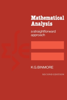 Image for Mathematical Analysis : A Straightforward Approach