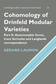 Image for Cohomology of Drinfeld modular varietiesPart 2: The Arthur-Selberg trace formula
