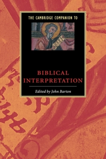Image for The Cambridge companion to biblical interpretation