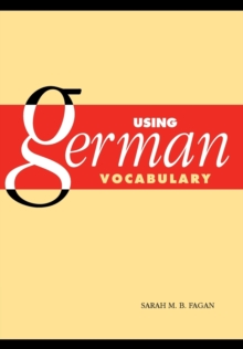 Image for Using German vocabulary