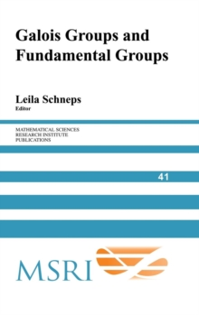 Image for Galois groups and fundamental groups