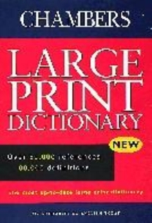 Image for Chambers large print dictionary