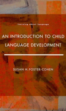Image for An introduction to child language development