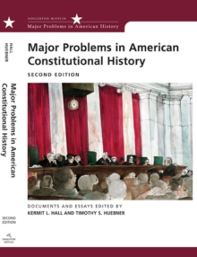 Image for Major Problems in American Constitutional History : Documents and Essays