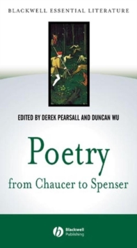 Image for Poetry from Chaucer to Spenser