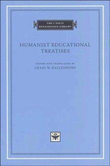 Image for Humanist educational treatises