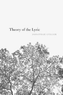 Image for Theory of the lyric