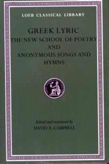 Image for Greek Lyric