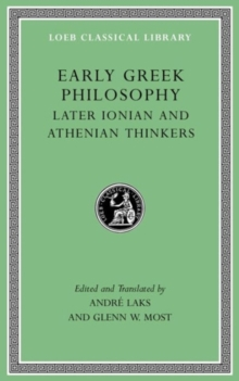 Image for Early Greek Philosophy, Volume III : Early Ionian Thinkers, Part 2