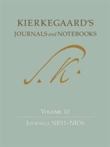 Image for Kierkegaard's journals and notebooksVolume 10,: Journals NB31-NB36