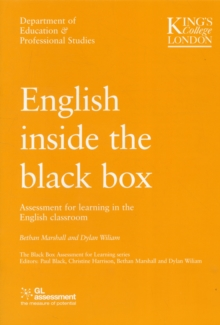 Image for English inside the black box  : assessment for learning in the English classroom
