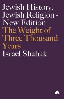 Image for Jewish history, Jewish religion  : the weight of three thousand years